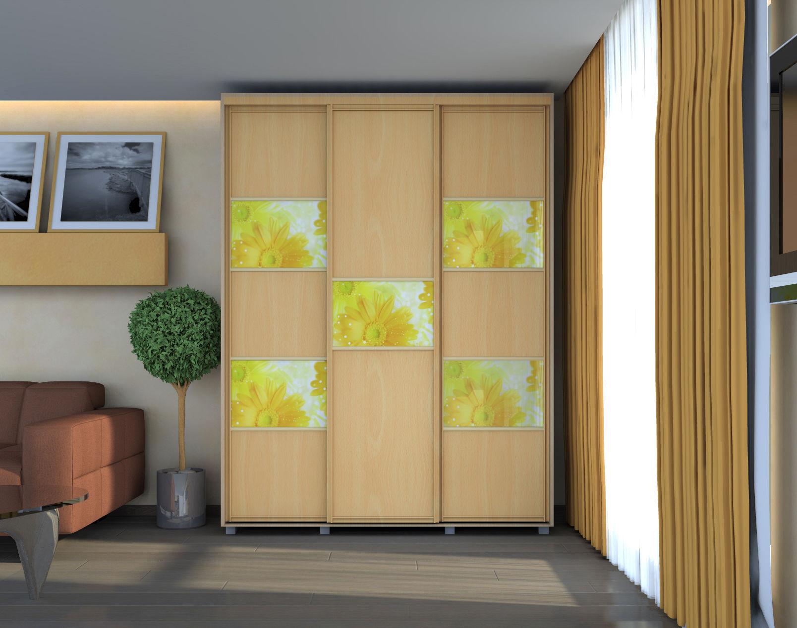 Шкафы купе/ комбинирование материалов.